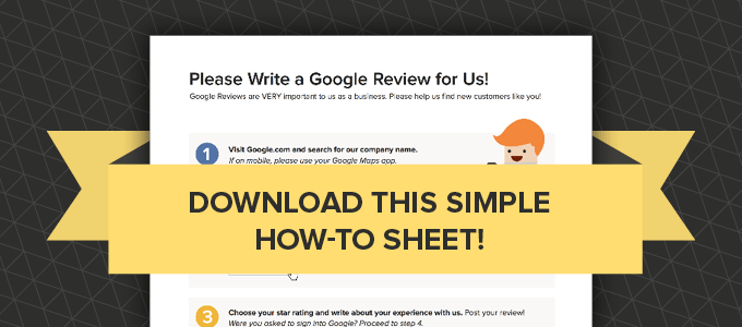 A super simple tool to use that aids people in writing Google reviews for your